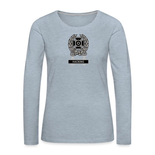 Expert Hacker Qualification Badge - Women's Premium Slim Fit Long Sleeve T-Shirt