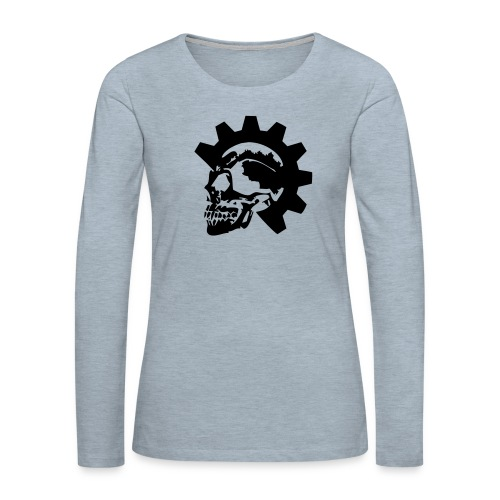 Gearhead Skull - Women's Premium Slim Fit Long Sleeve T-Shirt