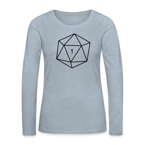 d20 - 1 - Women's Premium Long Sleeve T-Shirt