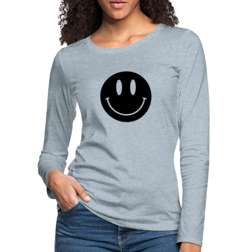 Smiley - Women's Premium Slim Fit Long Sleeve T-Shirt