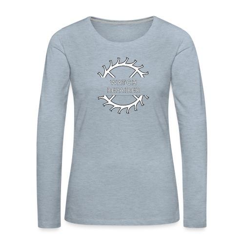 Watch Repairer Emblem - Women's Premium Slim Fit Long Sleeve T-Shirt