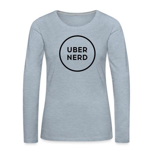 uber nerd logo - Women's Premium Long Sleeve T-Shirt