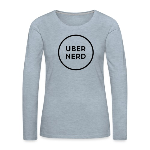 uber nerd logo - Women's Premium Slim Fit Long Sleeve T-Shirt