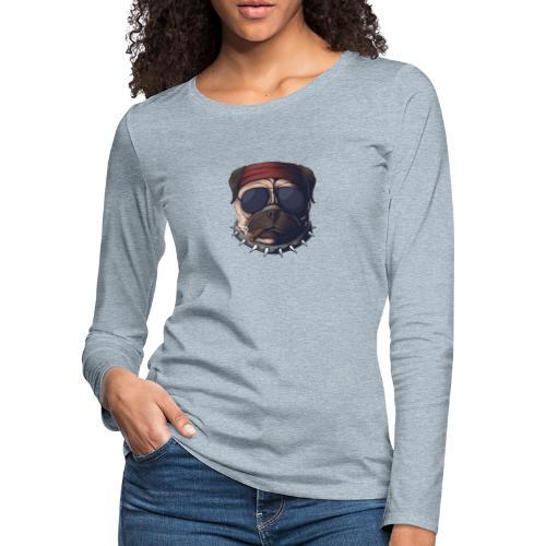 Dog head smoke - Women's Premium Slim Fit Long Sleeve T-Shirt