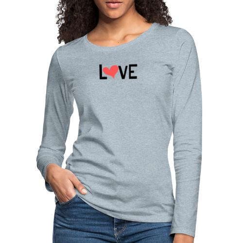 LOVE heart - Women's Premium Long Sleeve T-Shirt