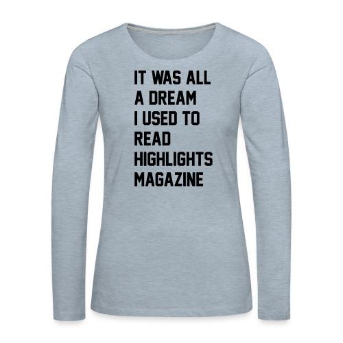JUICY 1 - Women's Premium Slim Fit Long Sleeve T-Shirt