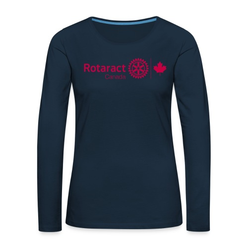 Rotaractor At Work - Cranberry - Women's Premium Slim Fit Long Sleeve T-Shirt