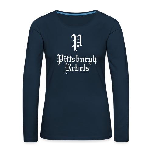 Pittsburgh Rebels - Women's Premium Slim Fit Long Sleeve T-Shirt