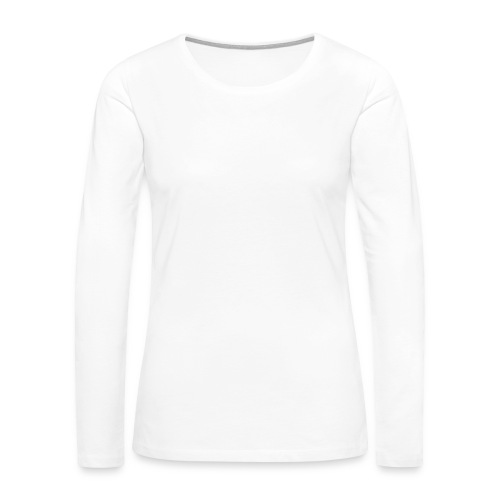 SEA_logo_WHITE_eps - Women's Premium Slim Fit Long Sleeve T-Shirt