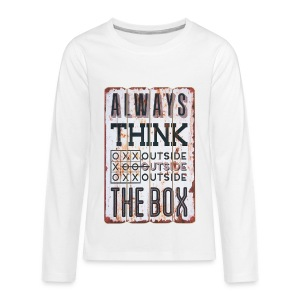 Always think outside the box - Kids' Premium Long Sleeve T-Shirt