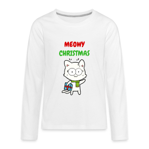 MEOWY CHRISTMAS HOLIDAY CAT - Kids' Premium Long Sleeve T-Shirt