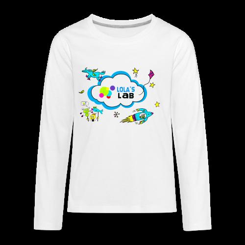 Lola's Lab illustrated logo tee - Kids' Premium Long Sleeve T-Shirt