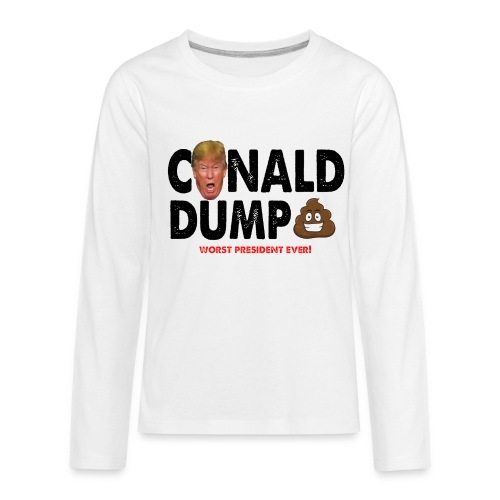 Conald Dump Worst President Ever - Kids' Premium Long Sleeve T-Shirt