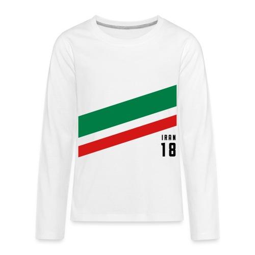 Iran Stipes - Kids' Premium Long Sleeve T-Shirt