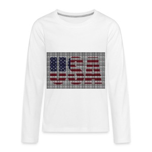 USA - Kids' Premium Long Sleeve T-Shirt