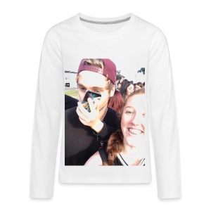 Luke Hemmings with a phone in his face - Kids' Premium Long Sleeve T-Shirt