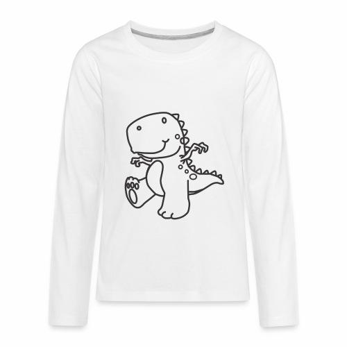 Cute Dinosaur - Kids' Premium Long Sleeve T-Shirt