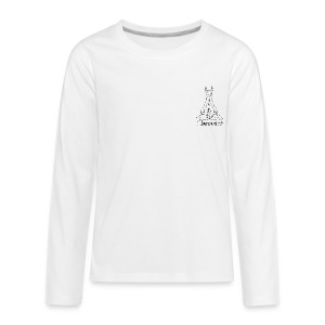 Llamaste White Logo - Kids' Premium Long Sleeve T-Shirt