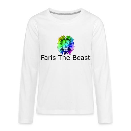 Faris The Beast Text w/ Logo - Kids' Premium Long Sleeve T-Shirt