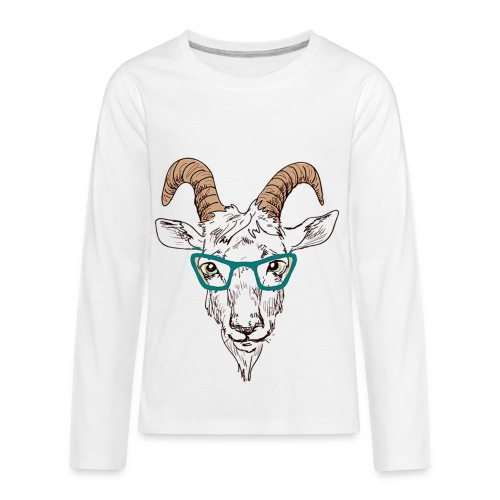 Goat Nerd - For that Goatee Lovin Kid - Kids' Premium Long Sleeve T-Shirt