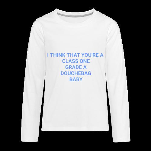 Blue lyrics - Kids' Premium Long Sleeve T-Shirt