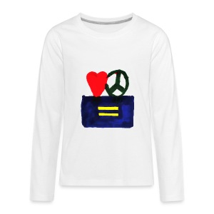 Peace, Love and Equality - Kids' Premium Long Sleeve T-Shirt