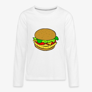 Comic Burger - Kids' Premium Long Sleeve T-Shirt