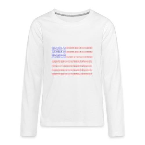 no trump no kkk USA flag - Kids' Premium Long Sleeve T-Shirt