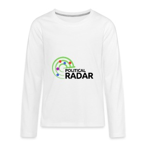 Political Radar Logo - Black - Kids' Premium Long Sleeve T-Shirt