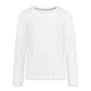 NF All White - Kids' Premium Long Sleeve T-Shirt