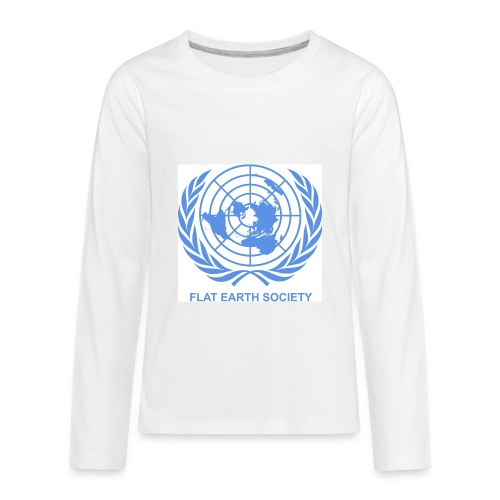 Flat Earth Society - Kids' Premium Long Sleeve T-Shirt