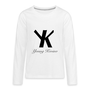 Young Kevino Official Logo (Black) - Kids' Premium Long Sleeve T-Shirt