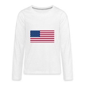 usa flag - Kids' Premium Long Sleeve T-Shirt