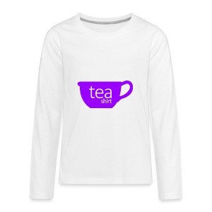 Tea Shirt Simple But Purple - Kids' Premium Long Sleeve T-Shirt