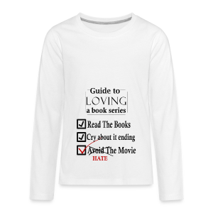 Guide To Loving A Book Series (Black) - Kids' Premium Long Sleeve T-Shirt