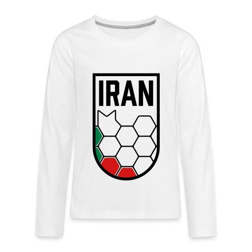 Iran Football Federation Crest - Kids' Premium Long Sleeve T-Shirt