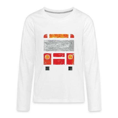 Iconic Red Bus - Kids' Premium Long Sleeve T-Shirt