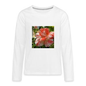 Pink and white rose seeds mixed rare flower - Kids' Premium Long Sleeve T-Shirt