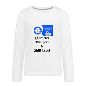 Character, Business & Skill Level - Kids' Premium Long Sleeve T-Shirt