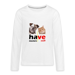 Dog & Cat - Kids' Premium Long Sleeve T-Shirt