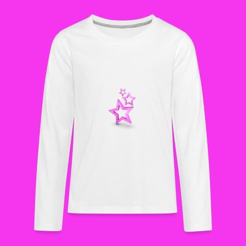 pink star - Kids' Premium Long Sleeve T-Shirt