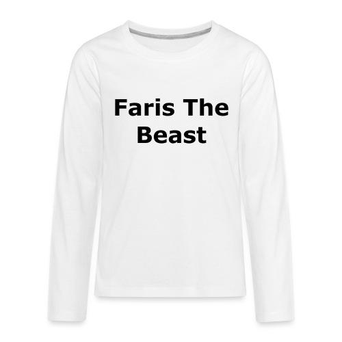 Faris The Beast Text - Kids' Premium Long Sleeve T-Shirt