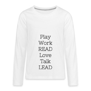 Play_Work_Read - Kids' Premium Long Sleeve T-Shirt