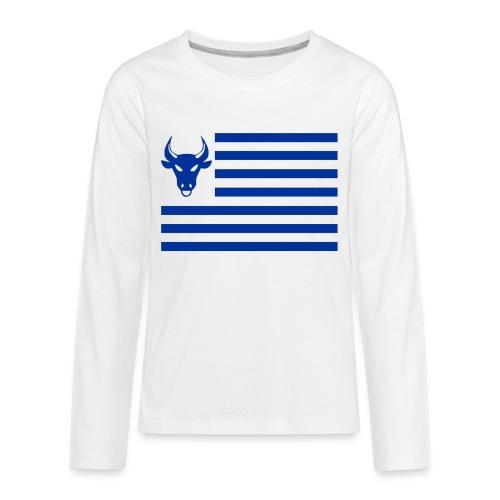 PivotBoss Flag Cobalt - Kids' Premium Long Sleeve T-Shirt