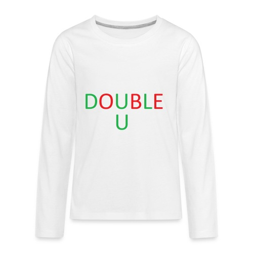 DOUBLE U MERCH - Kids' Premium Long Sleeve T-Shirt
