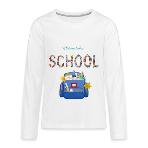 welcome back to school kids 2019 - Kids' Premium Long Sleeve T-Shirt