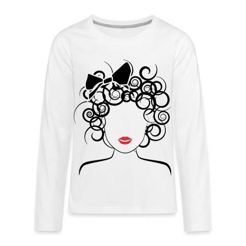 Global Couture logo_curly girl Women's T-Shirts - Kids' Premium Long Sleeve T-Shirt