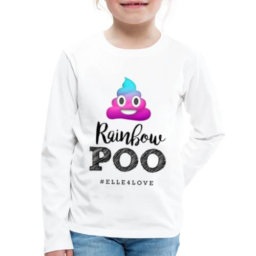 Rainbow Poo - Kids' Premium Long Sleeve T-Shirt