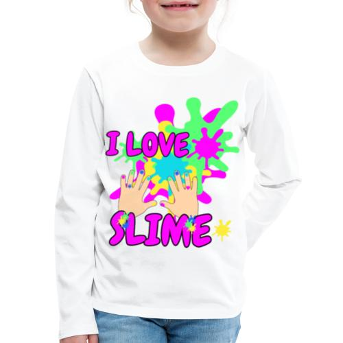 Slime Glitter Party - Kids' Premium Long Sleeve T-Shirt