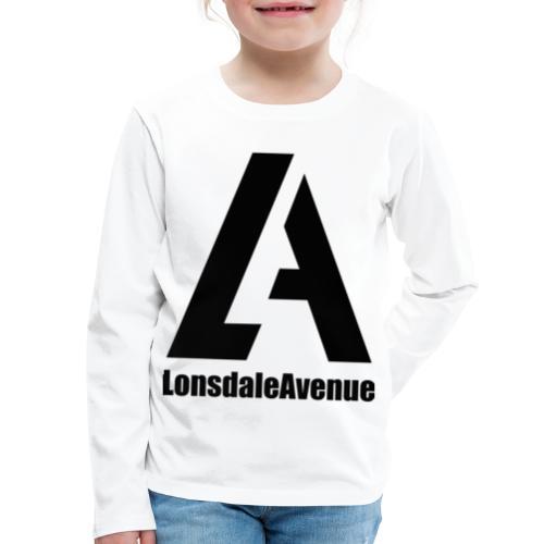 Lonsdale Avenue Logo Black Text - Kids' Premium Long Sleeve T-Shirt